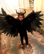 Little Maleficent Homemade Costume