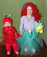 Little Mermaid and Sebastian Homemade Costume