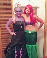 Little Mermaid Ariel and Ursula Homemade Costume