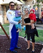 Little Mermaid Family Homemade Costume