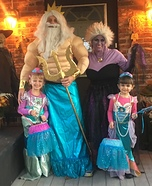 Little Mermaid Theme Homemade Costume