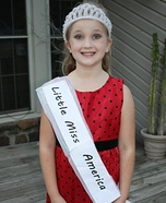 Homemade Little Miss America Costume