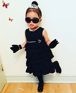 Little Miss Audrey Hepburn Homemade Costume
