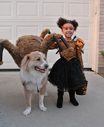 Costume ideas for pets and their owners: Little Miss Muffet