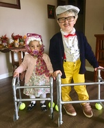 Little Old Granny & Little Old Man Homemade Costume