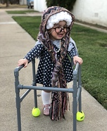 Little Old Happy Grandma Homemade Costume
