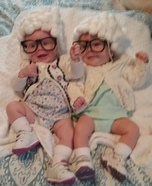 Little Old Ladies Twin Girls Homemade Costume