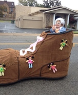 Little Old Lady in the Shoe Homemade Costume