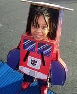 Little Optimus Prime Homemade Costume