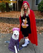 Little Red and Granny the Wolf Homemade Costume