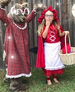 Little Red and The Big Bad Wolf Homemade Costume