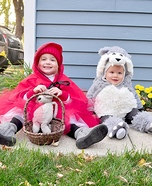 Little Red and the Big Bad Wolf Kids Homemade Costume
