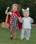 DIY baby costume ideas: Little Red and the Not-So-Big-Bad Wolf Costume