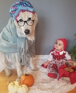 Little Red and The Wolf Homemade Costume