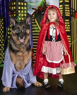 Little Red & The Big Bad Wolf Homemade Costume