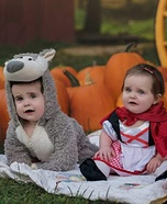 Little Red Riding Hood and Bad Wolf Babies Costume