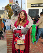 Little Red Riding Hood and Big Bad Wolf Grandma Couple Costume