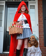 Little Red Riding Hood and Grandmother Homemade Costume