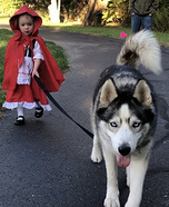 Little Red Riding Hood and her Big Bad Wolf Homemade Costume