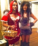 Couples Halloween costume idea: Little Red Riding Hood and the Big Bad Wolf Costume