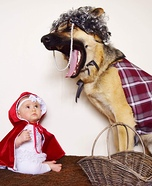 Little Red Riding Hood and The Big Bad Wolf Baby and Dog Costume