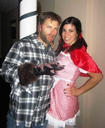 Couple's Little Red Riding Hood and the Big Bad Wolf Costume