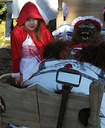 Little Red Riding Hood and Wolf Homemade Costume