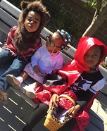 Little Red Riding Hood, Granny, & The Big Bad Wolf Homemade Costume