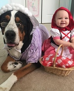 Little Red Riding Hood & Big Bad Wolf Homemade Costume