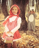 Little Red Riding Hood & The Big Bad Wolf Homemade Costume