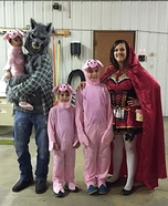 Little Red Riding Hood, The Big Bad Wolf, and Three Little Pigs Homemade Costume