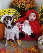 Little Riding Hood & The Big Bad Wolf Homemade Costume