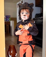 Little Rocket Raccoon Homemade Costume