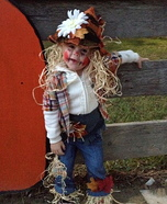 Little Scarecrow Homemade Baby Costume