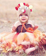Little Turkey Baby Feather and Crochet Costume