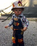 Littlest Scarecrow Homemade Costume