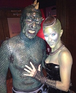 Couples Halloween costume idea: Lizard Man Costume