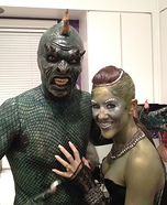 Homemade Lizard Man Costume
