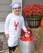 Lobster and Chef Homemade Costume
