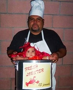 Lobster Baby & Daddy Chef - Homemade Costume Idea