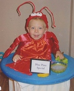 Lobster Blue Plate Special Homemade Costume
