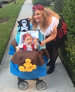 Logan's Pirate Ship Homemade Costume