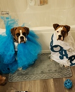 Loofah and Soap Dogs Homemade Costume