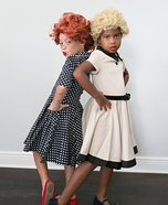 Lucy and Ethel Homemade Costume