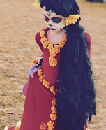 Lucy as La Muerte Homemade Costume