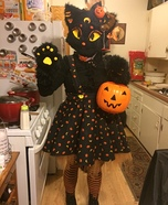Lucy Moon the Black Cat Homemade Costume