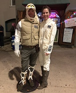 Luke and Leia Homemade Costume