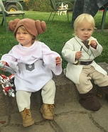 Luke Skywalker and Princess Leia Organa Homemade Costume