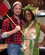 Lumberjack & Tree Homemade Costume