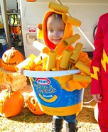 Mac & Cheese Cup Homemade Costume